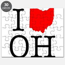 I Love OH Ohio Puzzle