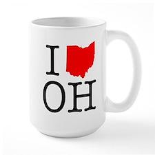 I Love OH Ohio Mug