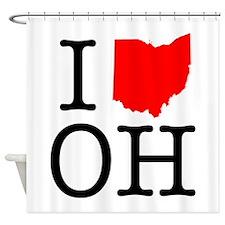 I Love OH Ohio Shower Curtain