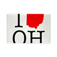 I Love OH Ohio Rectangle Magnet