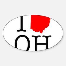 I Love OH Ohio Decal