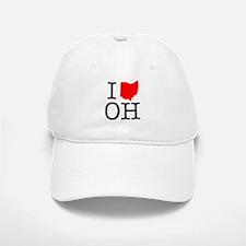 I Love OH Ohio Baseball Baseball Cap