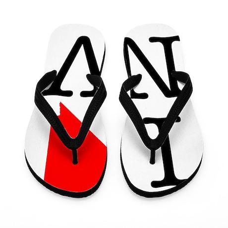 I Love NV Nevada Flip Flops