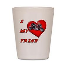 I Heart My Trike Shot Glass