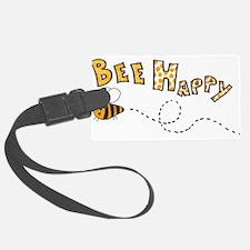 Bee Happy Luggage Tag