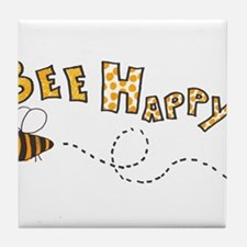 Bee Happy Tile Coaster