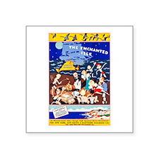 Martha's Vineyard Travel Poster 1 Square Sticker 3