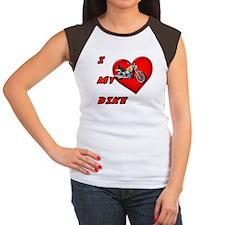 I Heart My Bike Women's Cap Sleeve T-Shirt