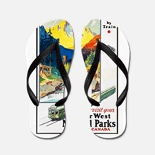 National Parks Travel Poster 6 Flip Flops