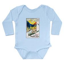 National Parks Travel Poster 6 Long Sleeve Infant
