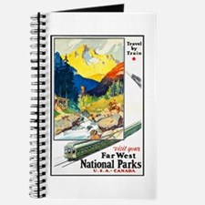 National Parks Travel Poster 6 Journal