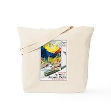 National Parks Travel Poster 6 Tote Bag