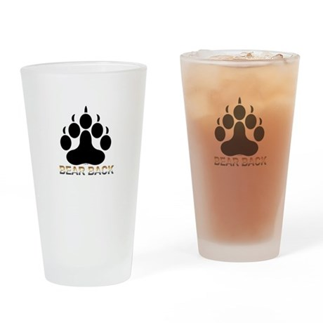 Bear Paw Drinking Glass