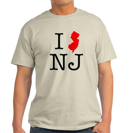 I Love NJ New Jersey Light T-Shirt