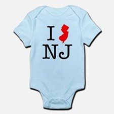 I Love NJ New Jersey Infant Bodysuit
