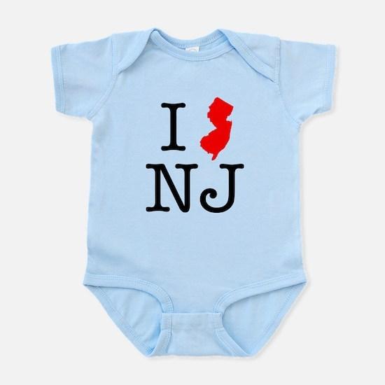 I Love NJ New Jersey Infant Bodysuit
