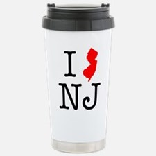 I Love NJ New Jersey Travel Mug