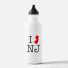 I Love NJ New Jersey Water Bottle