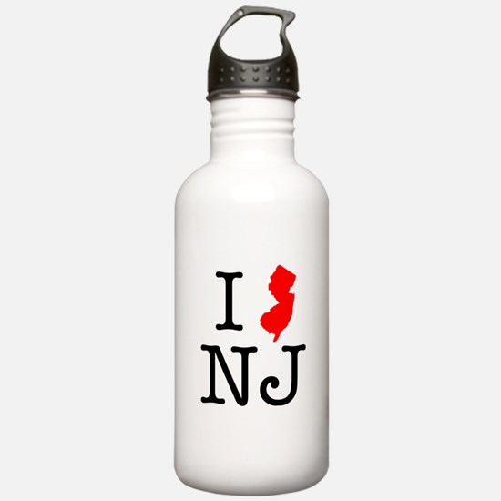 I Love NJ New Jersey Water Bottle