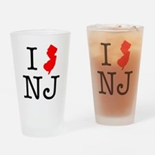 I Love NJ New Jersey Drinking Glass
