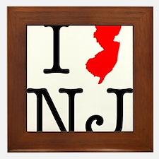 I Love NJ New Jersey Framed Tile
