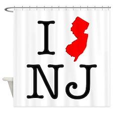 I Love NJ New Jersey Shower Curtain