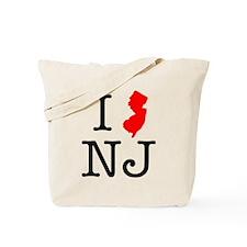 I Love NJ New Jersey Tote Bag