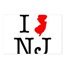 I Love NJ New Jersey Postcards (Package of 8)