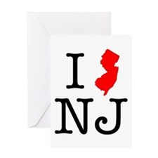 I Love NJ New Jersey Greeting Card