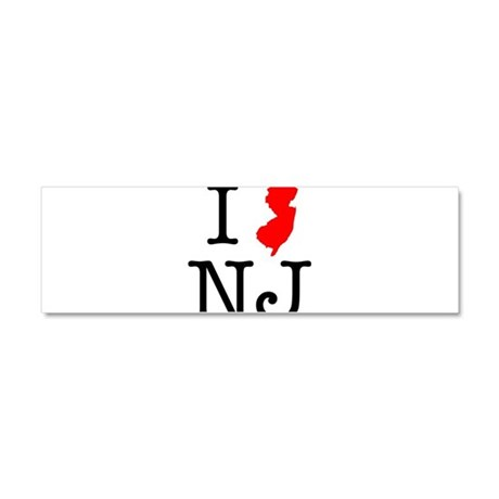 I Love NJ New Jersey Car Magnet 10 x 3