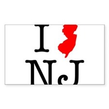 I Love NJ New Jersey Decal