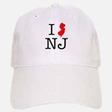 I Love NJ New Jersey Baseball Baseball Cap
