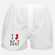 I Love NJ New Jersey Boxer Shorts