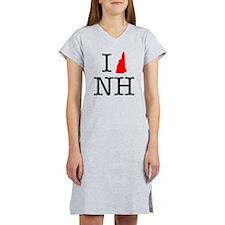 I Love NH New Hampshire Women's Nightshirt