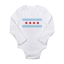 Chicago Flag Long Sleeve Infant Bodysuit