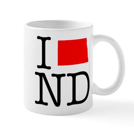 I Love ND North Dakota Mug