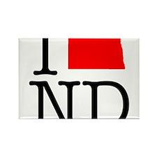 I Love ND North Dakota Rectangle Magnet