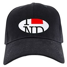 I Love ND North Dakota Baseball Hat