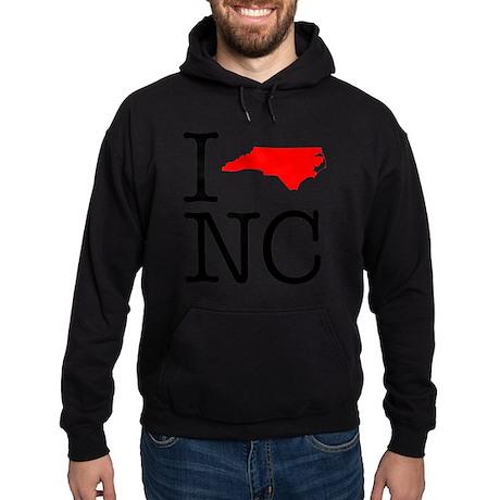 I Love NC North Carolina Hoodie (dark)