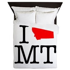 I Love MT Montana Queen Duvet