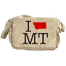 I Love MT Montana Messenger Bag