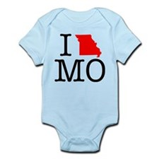 I Love MO Missouri Infant Bodysuit