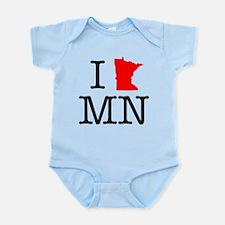 I Love MN Minnesota Infant Bodysuit