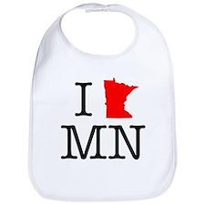 I Love MN Minnesota Bib