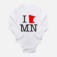 I Love MN Minnesota Long Sleeve Infant Bodysuit