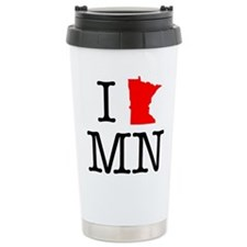 I Love MN Minnesota Travel Mug
