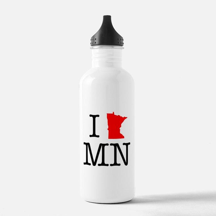 I Love MN Minnesota Water Bottle