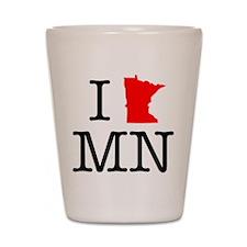 I Love MN Minnesota Shot Glass