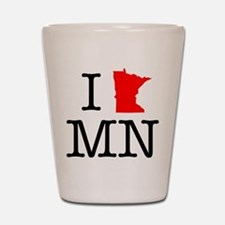 I Love MN Minnesota Shot Glass
