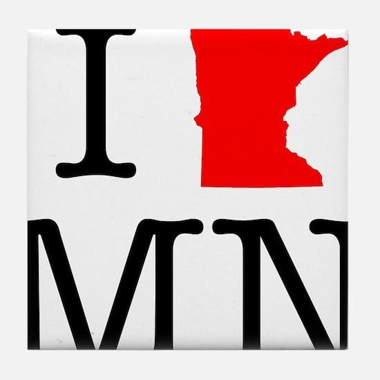 I Love MN Minnesota Tile Coaster